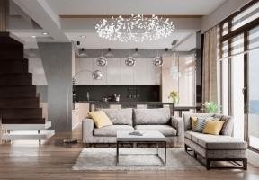Дизайн интерьера 2х этажной квартиры в Евпатории