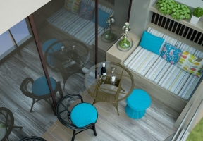 Дизайн интерьера ресторана Облака в гостинице Ribera Hotel