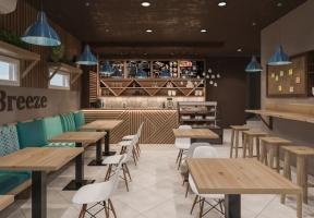 Дизайн интерьера кафе в Крыму